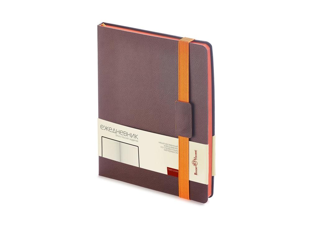 Ежедневник В5 недатированный Leggenda, коричневый