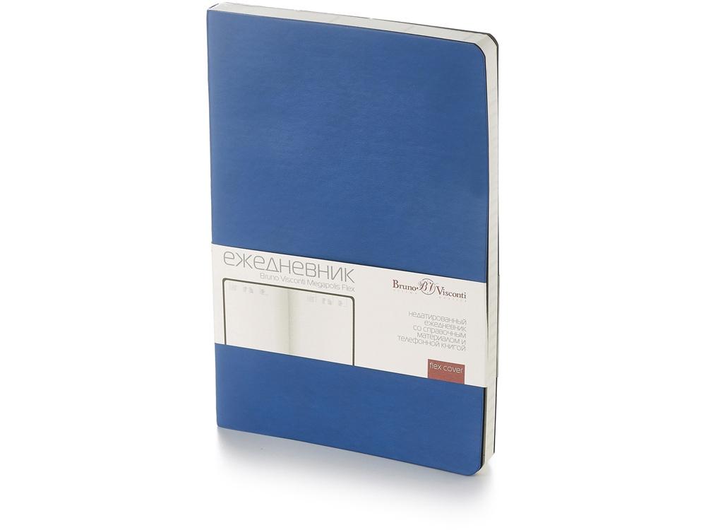Ежедневник А5 недатированный «Megapolis Flex», синий