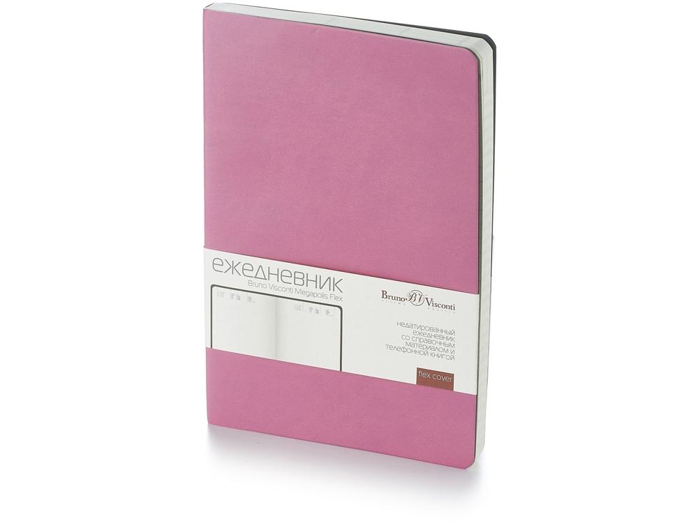 Ежедневник А5 недатированный «Megapolis Flex», розовый