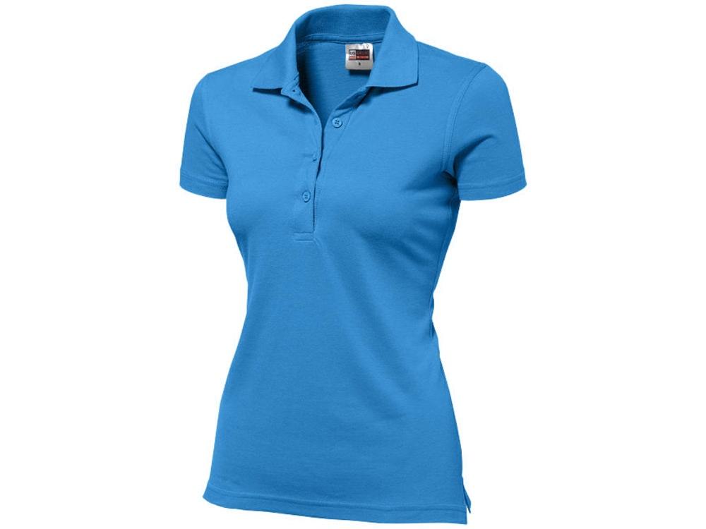 Рубашка поло First женская, небесно-голубой