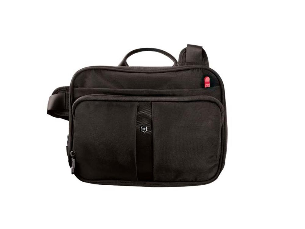 Сумка наплечная VICTORINOX Travel Companion 4 л., с системой защиты RFID горизонтальная.