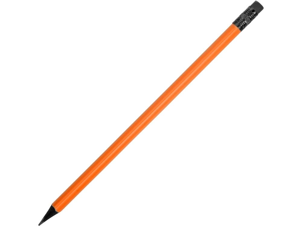 Карандаш чернографитовый трехгранный Blackie 3D, оранжевый