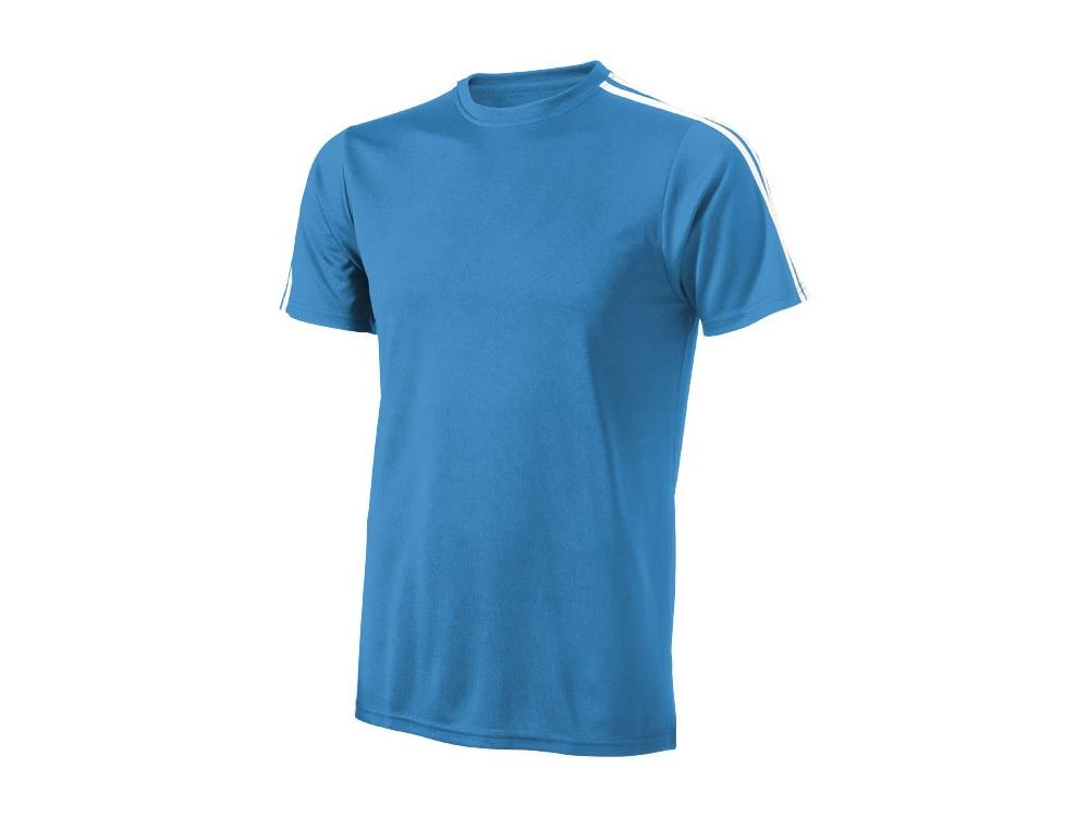 Футболка Baseline мужская, небесно-синий/белый