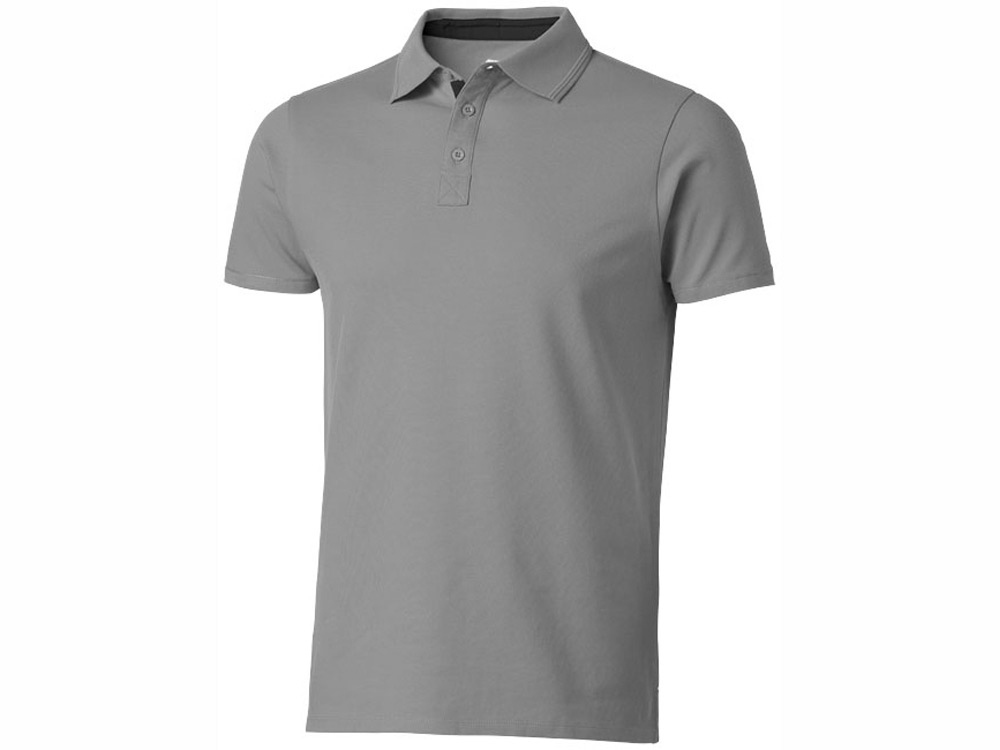 Рубашка поло Hacker мужская, серый/черный