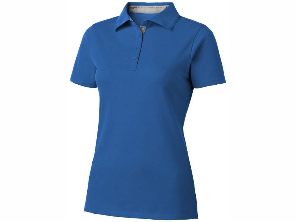 Рубашка поло Hacker женская, небесно-синий/серый