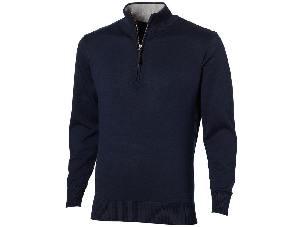 Пуловер Set с застежкой на четверть длины, т.синий/серый