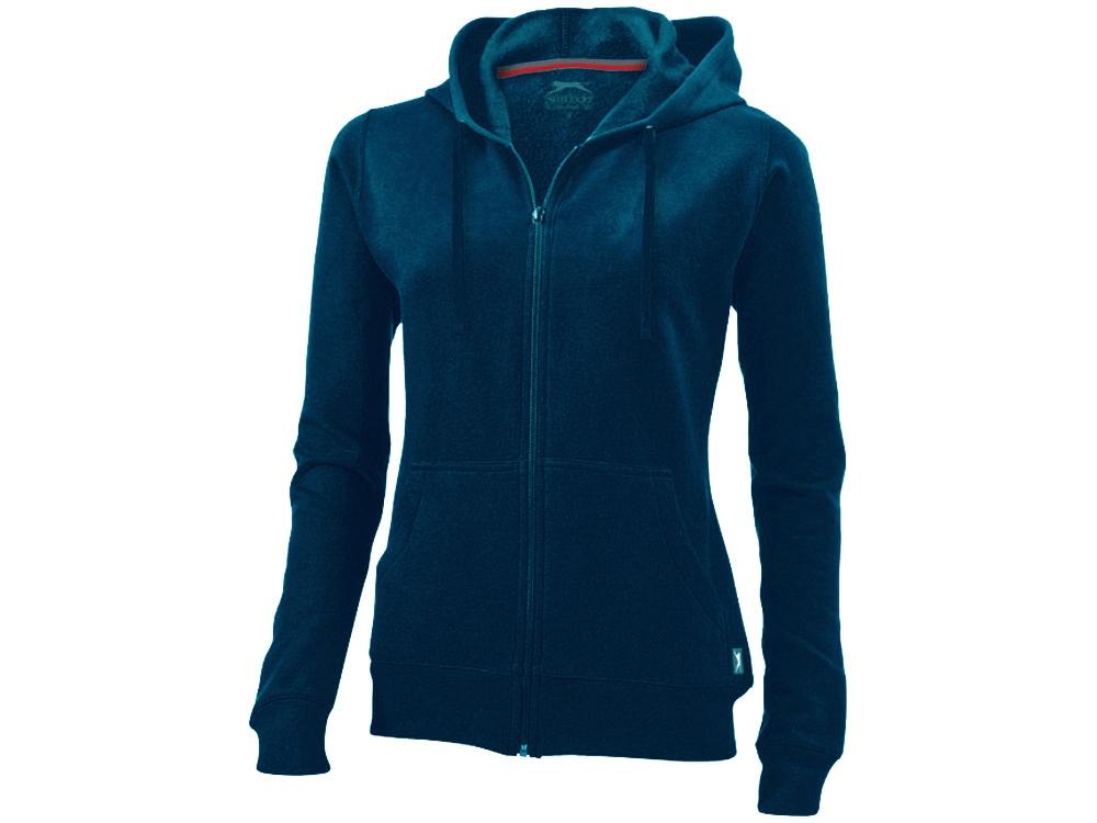 Толстовка «Open» женская с капюшоном, темно-синий