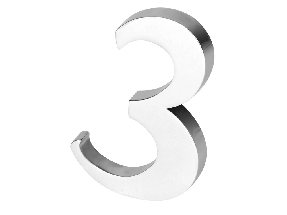 Цифра «Три» для часов 628089 и 628099, серебристый
