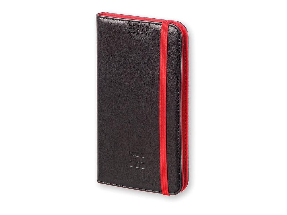 Чехол-книжка универсальный двухцветный, XL, черный/красный