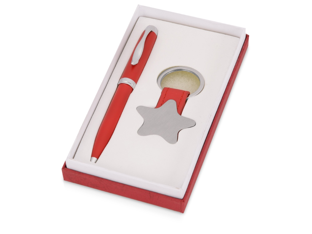 Набор: шариковая ручка, брелок «Звезда»