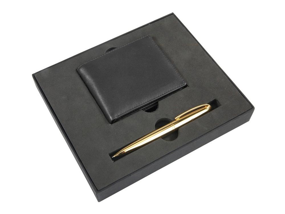 Набор «Черное золото»: портмоне, ручка шариковая