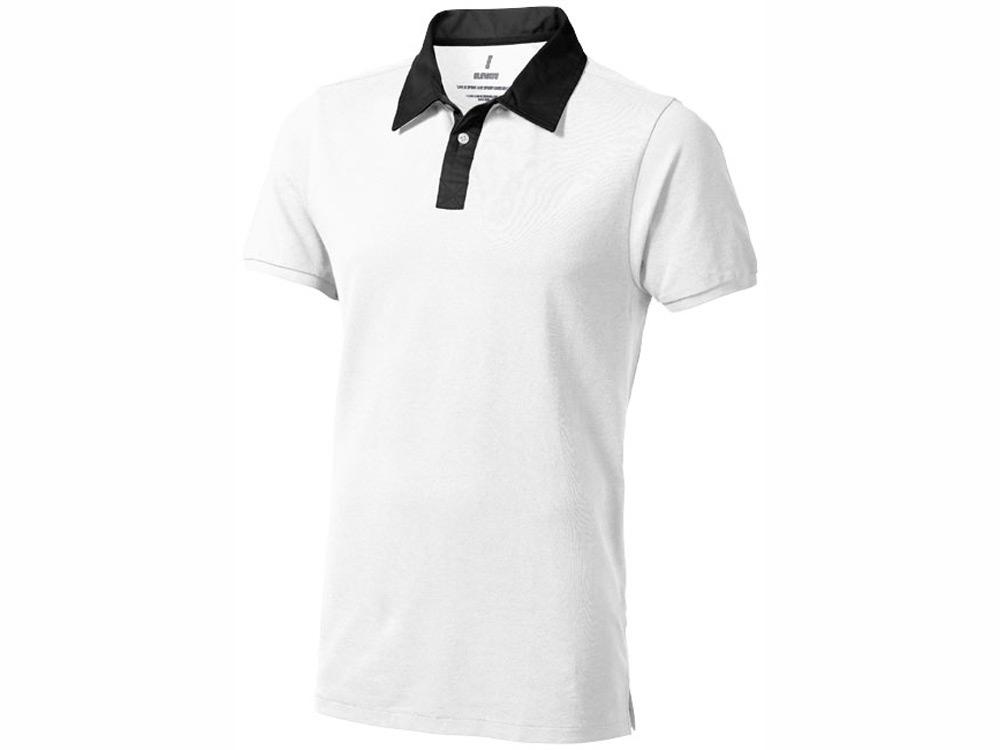 Рубашка поло York мужская, белый/антрацит