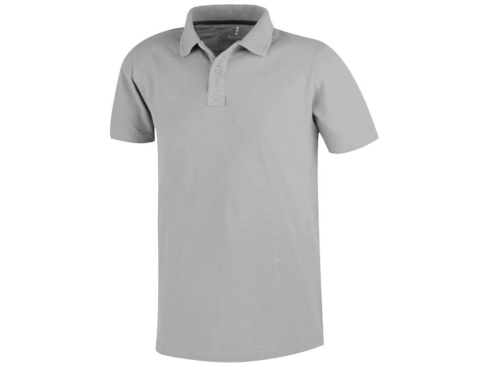 Рубашка поло «Primus» мужская, серый меланж