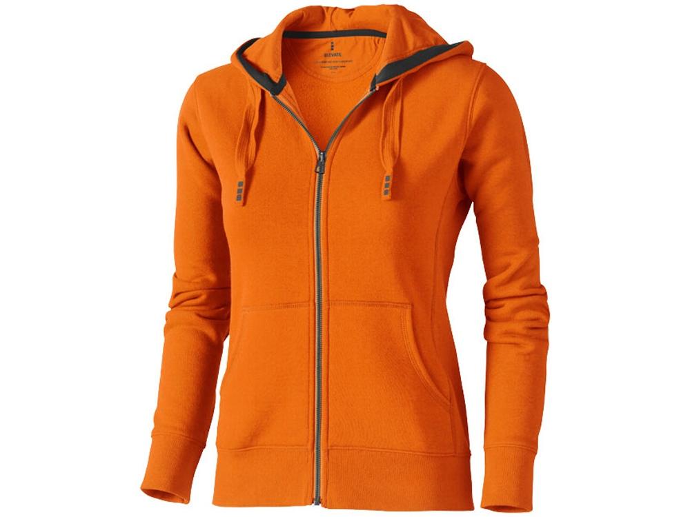 Толстовка «Arora» женская с капюшоном, оранжевый