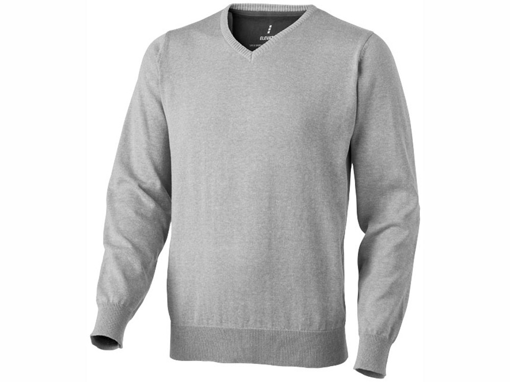 Пуловер Spruce мужской с V-образным вырезом, серый меланж