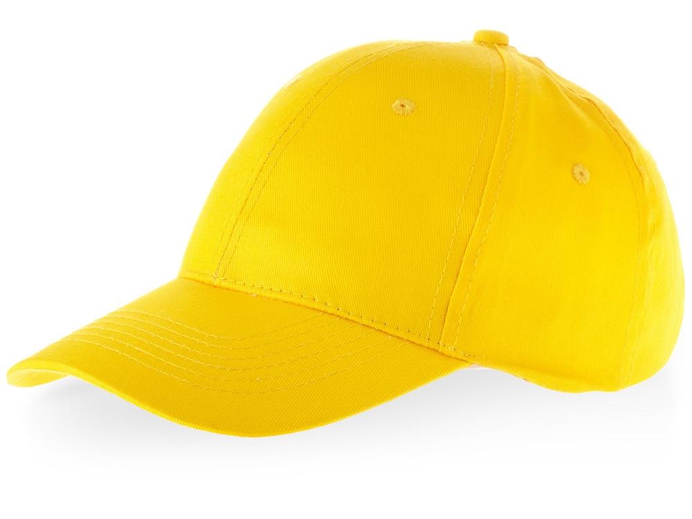 Бейсболка Watson, 6 панелей, желтый