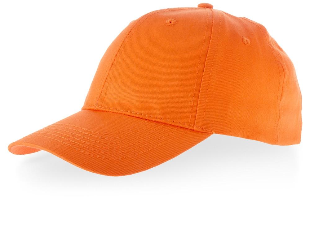 Бейсболка Watson, 6 панелей, оранжевый