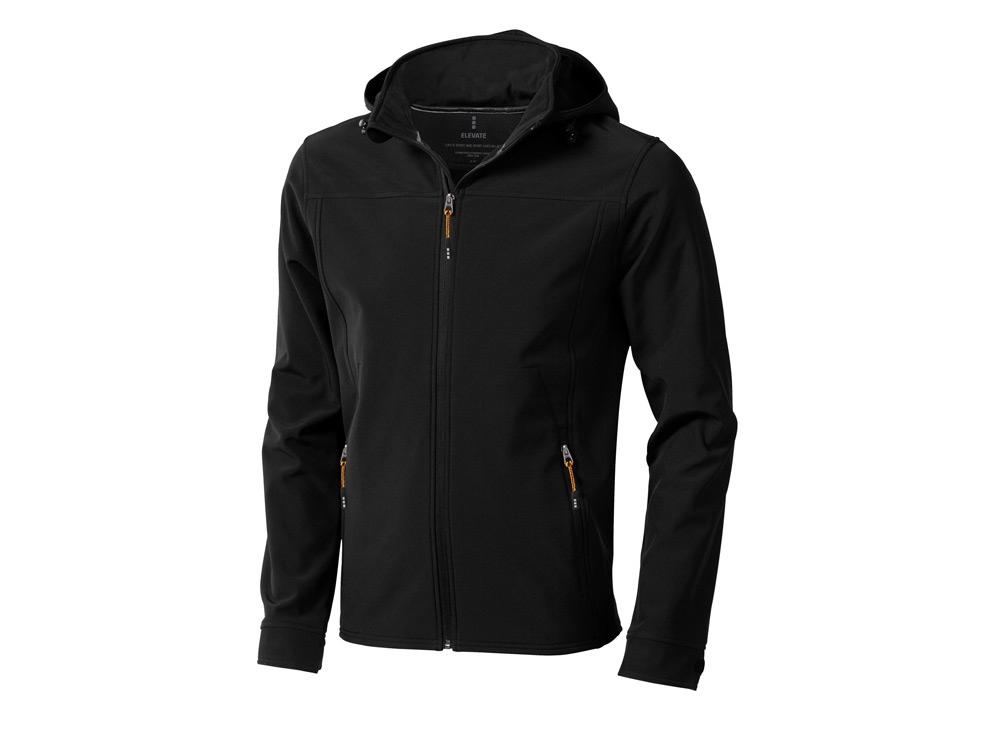 Куртка софтшел Langley мужская, черный