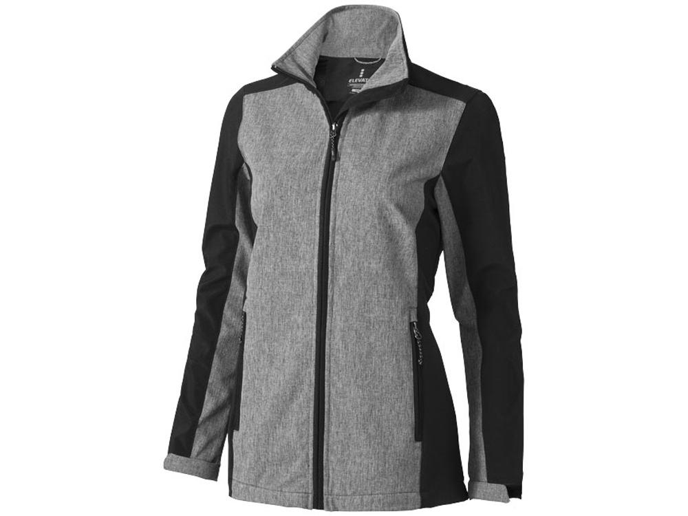 Куртка софтшел Vesper женская, черный/темно-серый