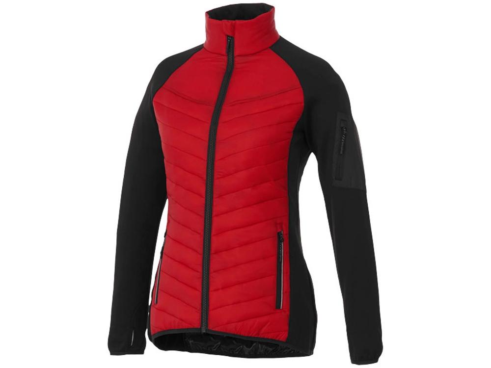Женская утепленная куртка Banff, красный/черный