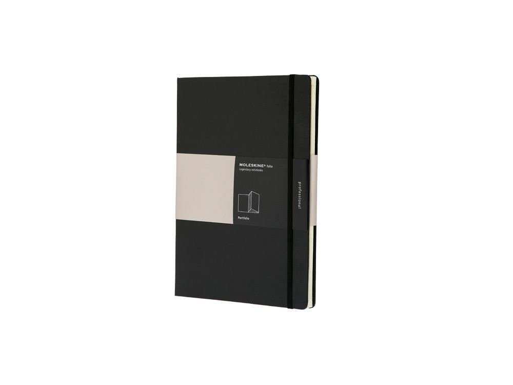 Альбом Moleskine Portfolio (с кармашками), А4, черный