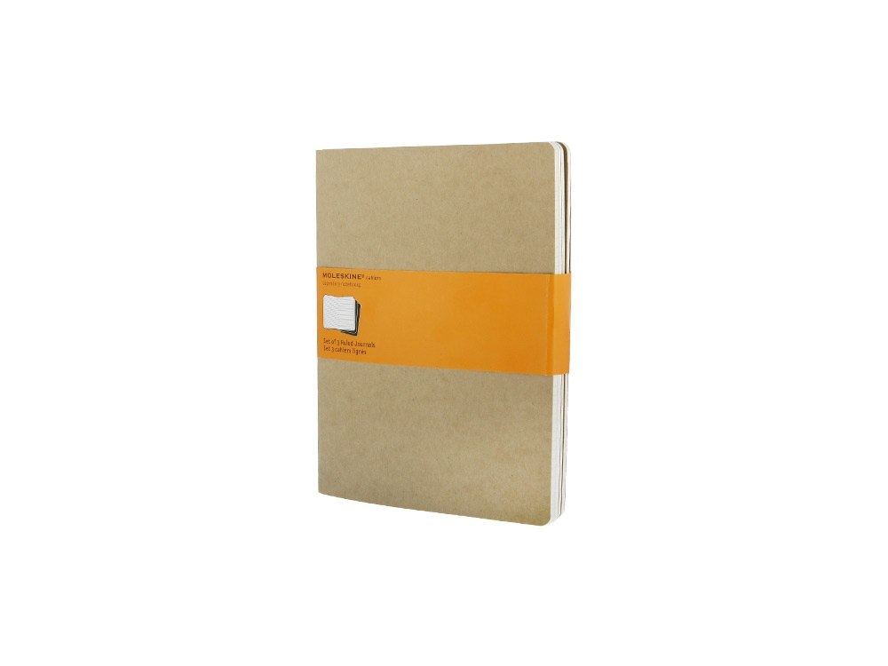 Записная книжка Moleskine Cahier (в линейку, 3 шт.), ХLarge (19х25см), бежевый