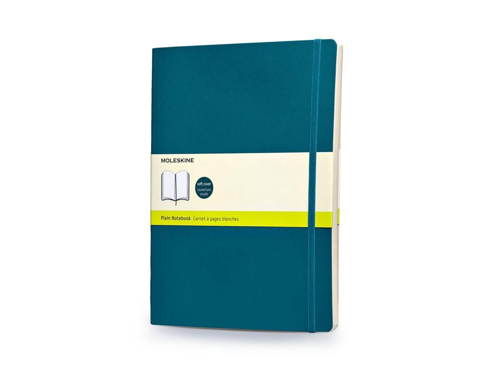 Записная книжка Moleskine Classic Soft (нелинованный), Хlarge (19х25 см), бирюзовый