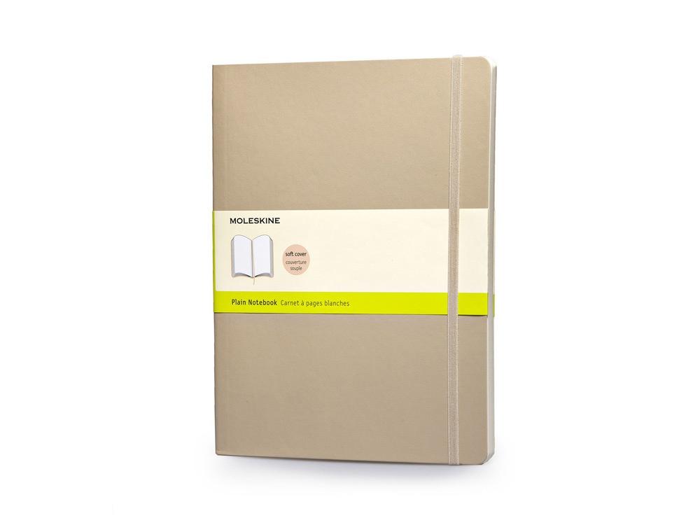 Записная книжка Moleskine Classic Soft (нелинованный), Хlarge (19х25 см), бежевый