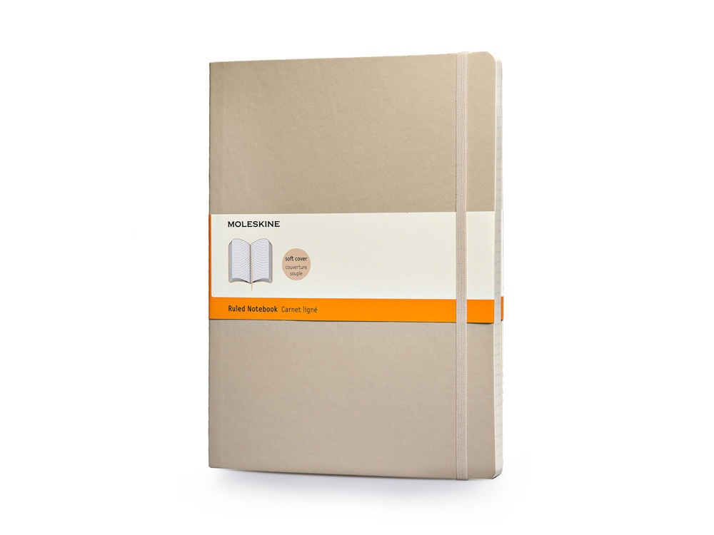 Записная книжка Moleskine Classic Soft (в линейку), Хlarge (19х25 см), бежевый