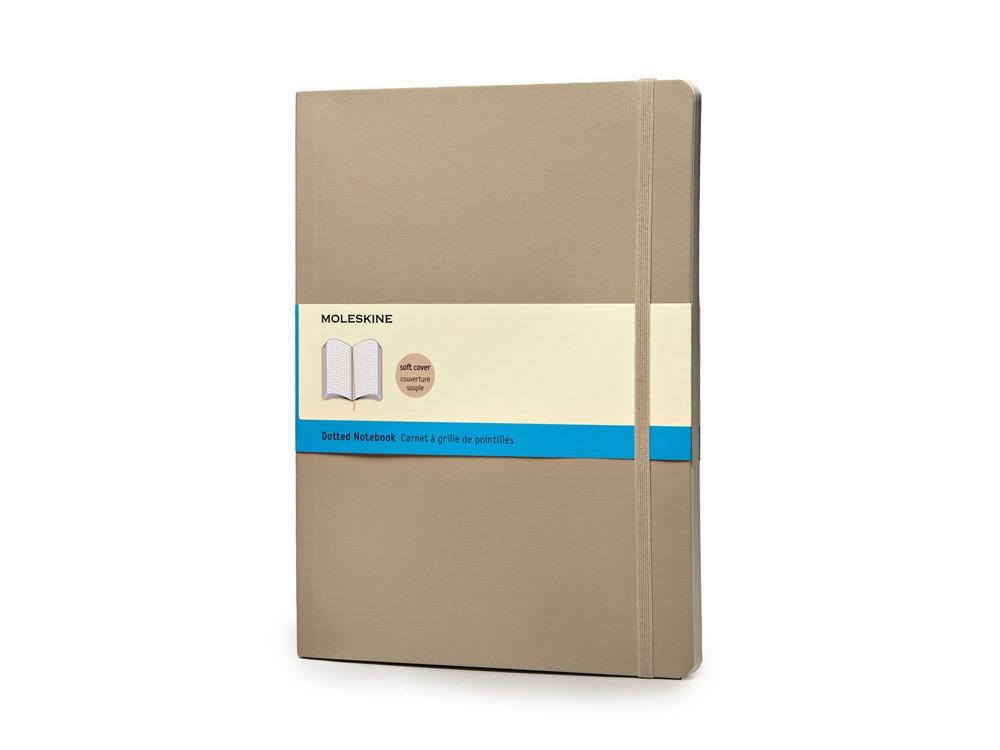 Записная книжка Moleskine Classic Soft (в точку), Хlarge (19х25 см), бежевый