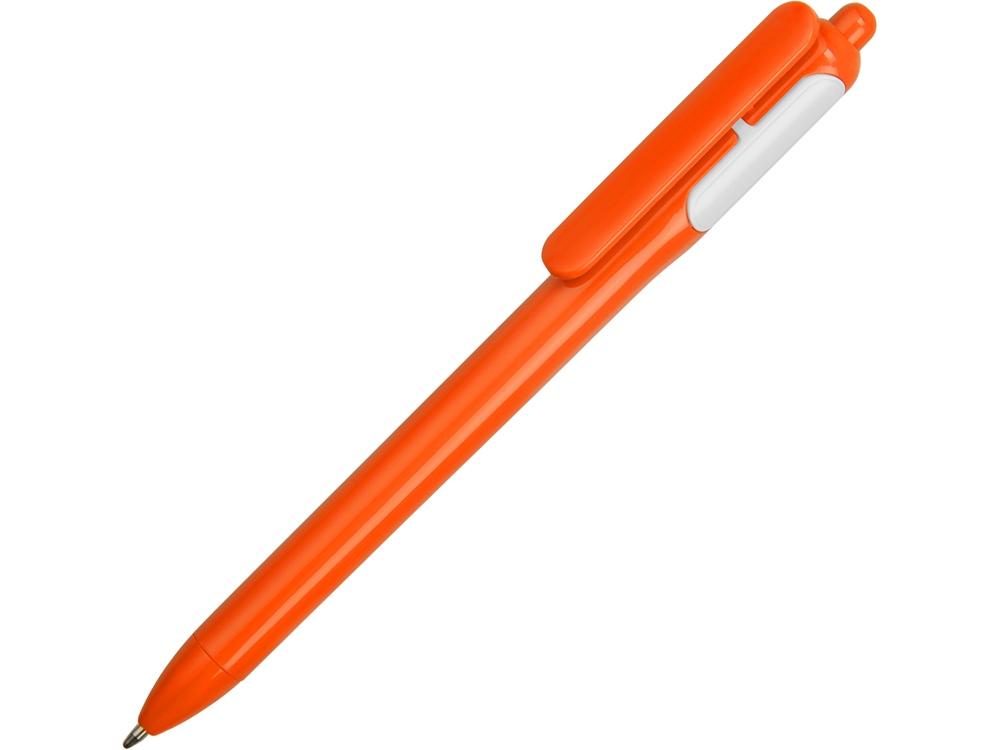 Ручка шариковая цветная, оранжевый/белый