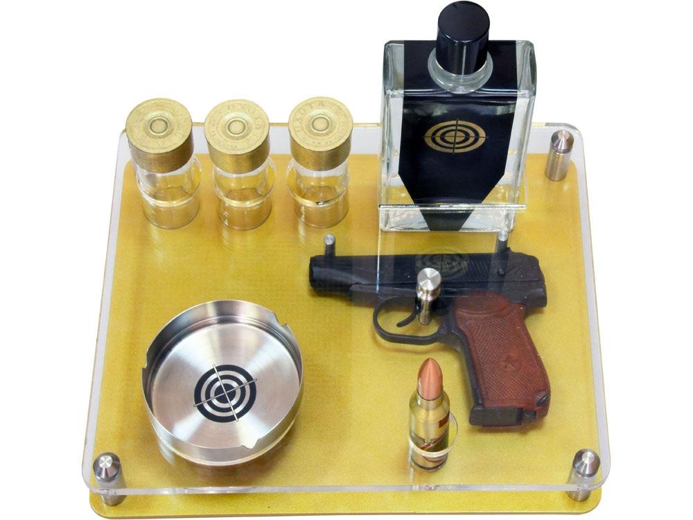 Подарочный набор Цель, черный/серебристый/золотистый