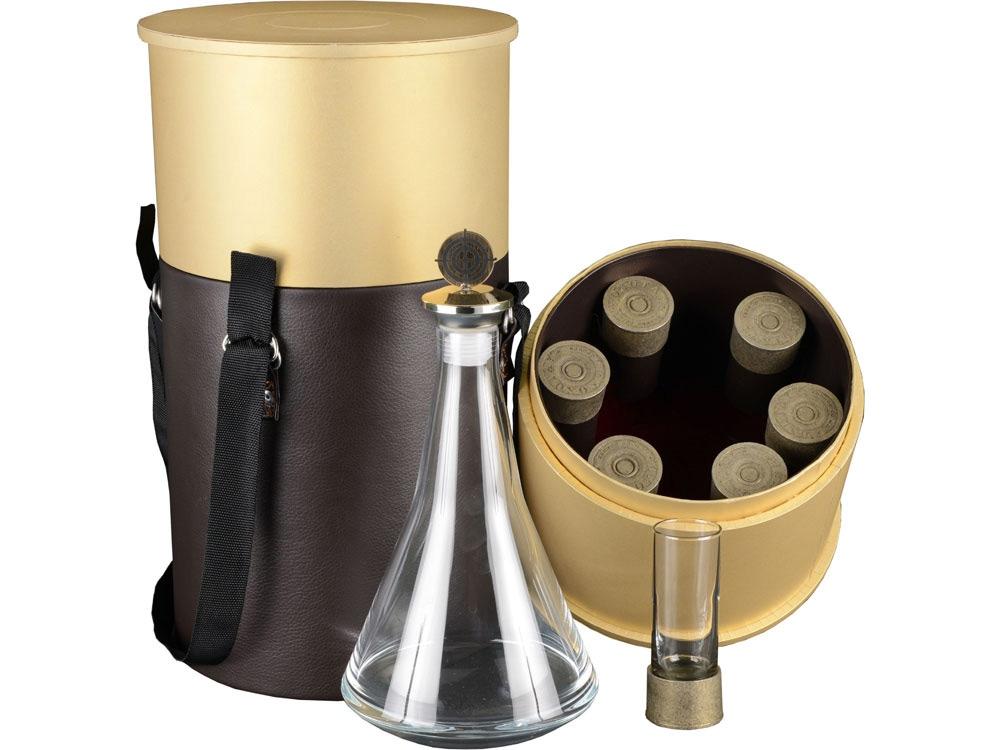 Подарочный набор Заряжай, коричневый/бежевый/прозрачный