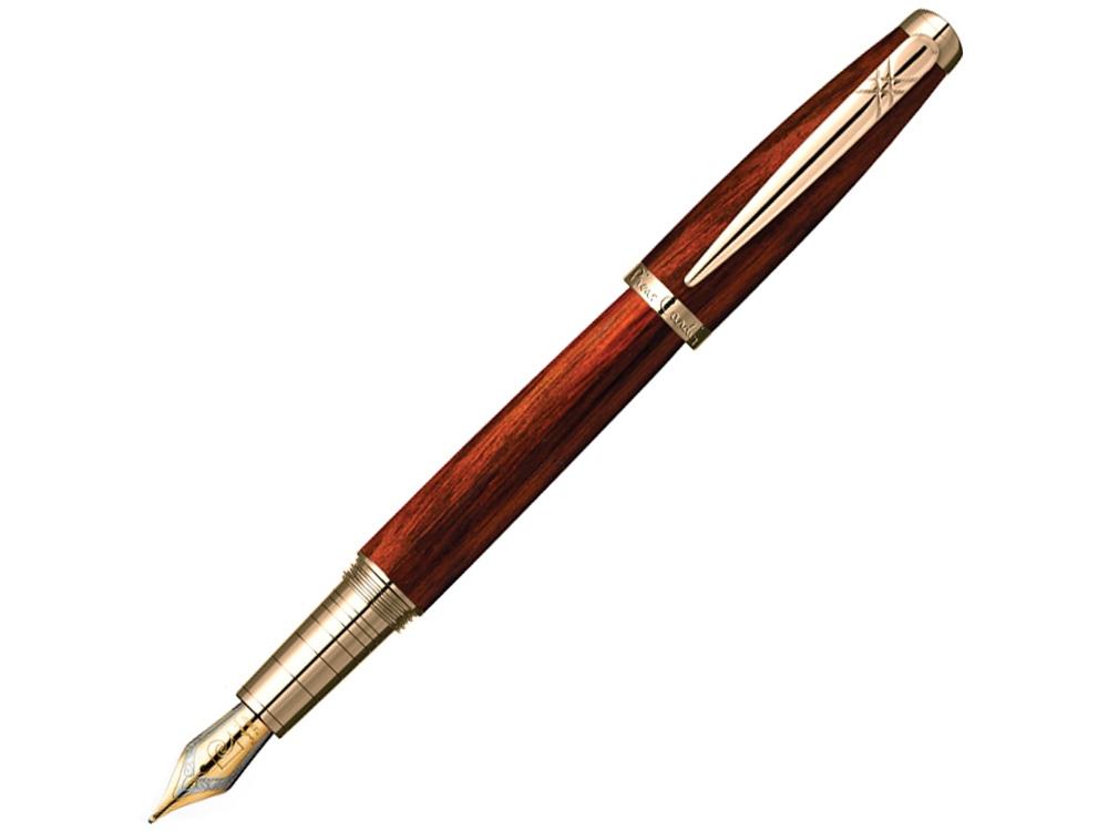 Ручка перьевая Pierre Cardin MAJESTIC с колпачком на резьбе, коричневый/черный/золото