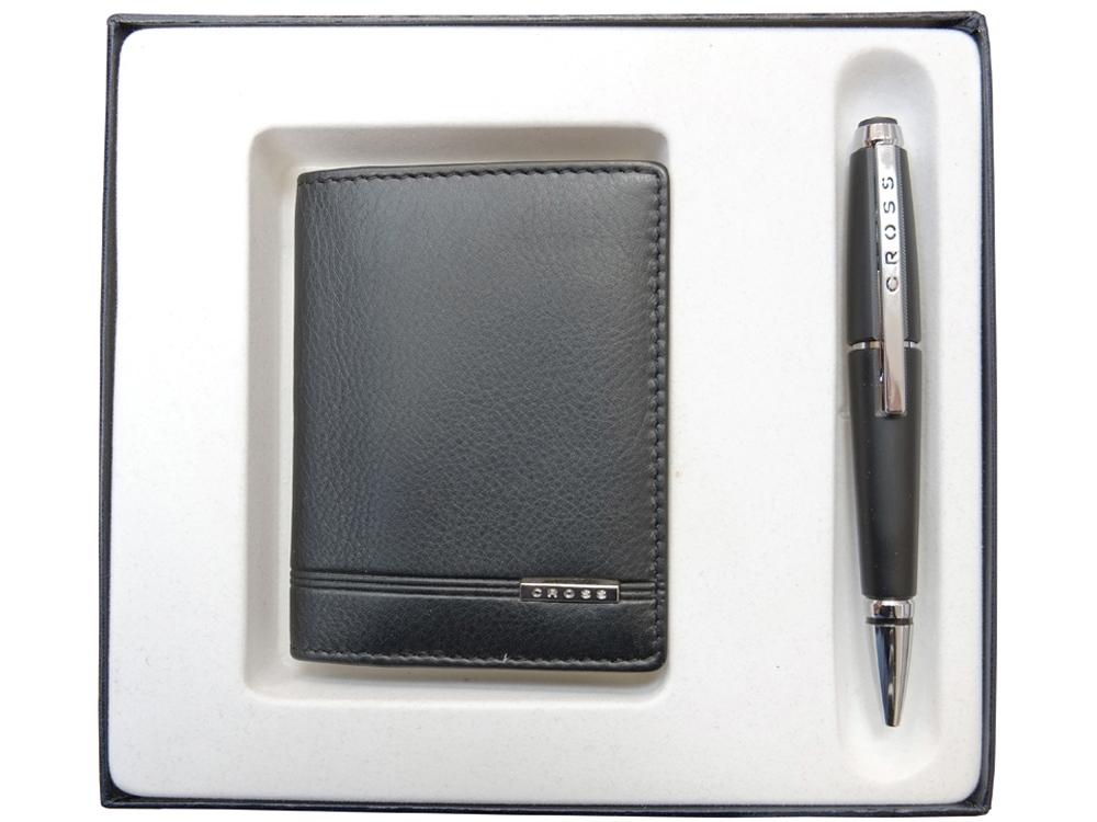 Набор: обложка для кредитных и визитных карт Classic Century с ручкой-роллер. Cross
