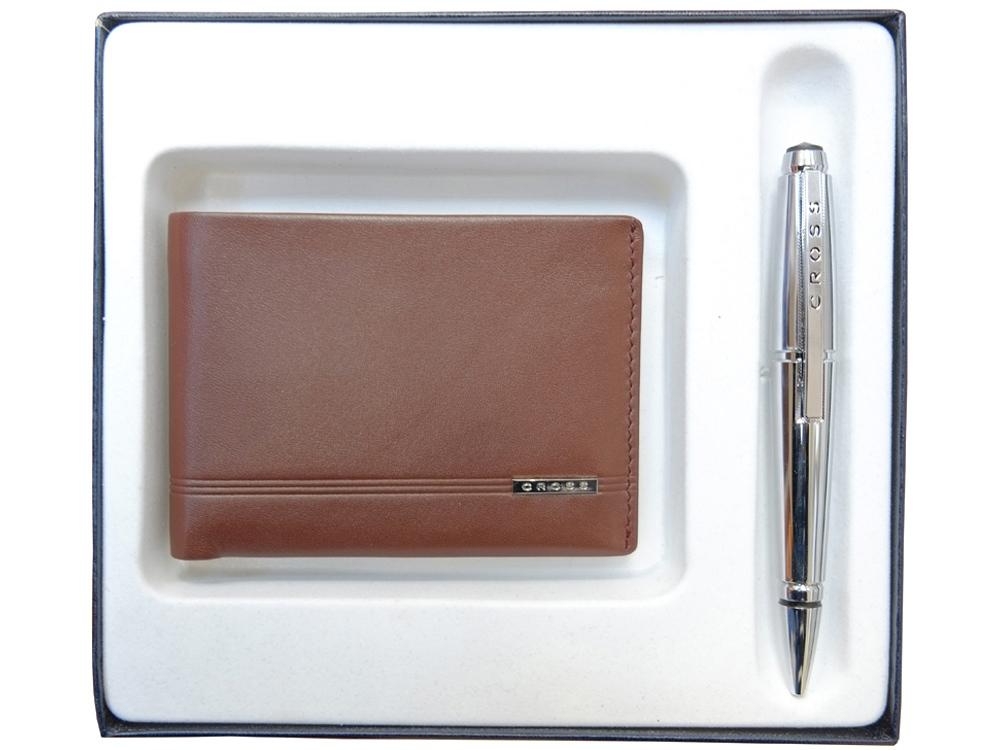 Набор: портмоне Classic Century с ручкой-роллер. Cross