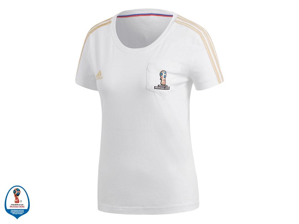 Футболка женская FWC Emblem. adidas, белый