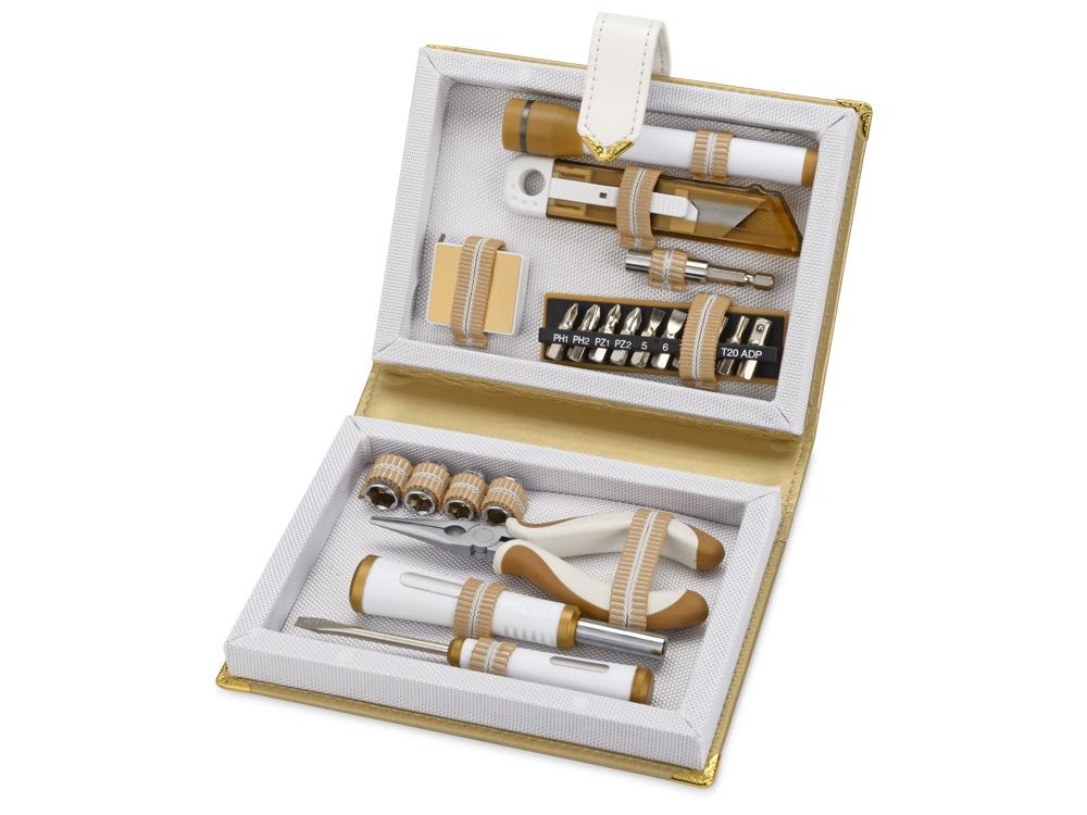 Набор инструментов с фонарем в футляре в виде книги, 21 предмет