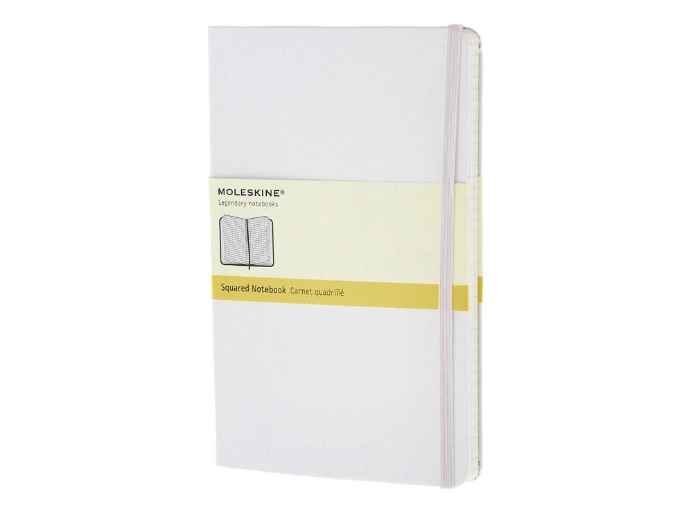 Записная книжка Moleskine Classic (в клетку) в твердой обложке, Large (13х21см), белый