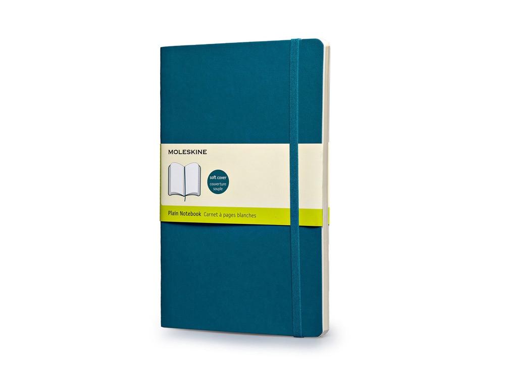 Записная книжка Moleskine Classic Soft (нелинованный), Large (13х21см), бирюзовый