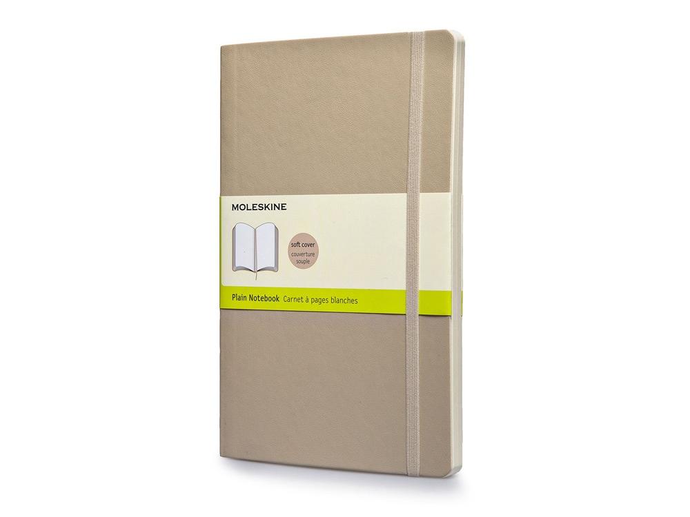 Записная книжка Moleskine Classic Soft (нелинованный), Large (13х21см), бежевый