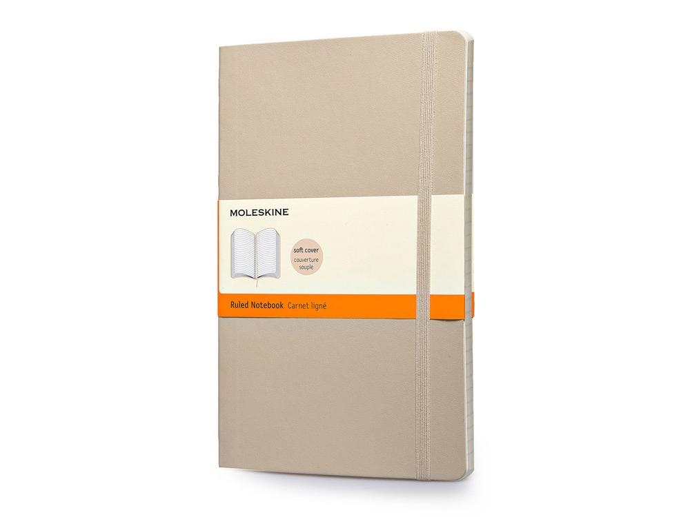 Записная книжка Moleskine Classic Soft (в линейку), Large (13х21см), бежевый