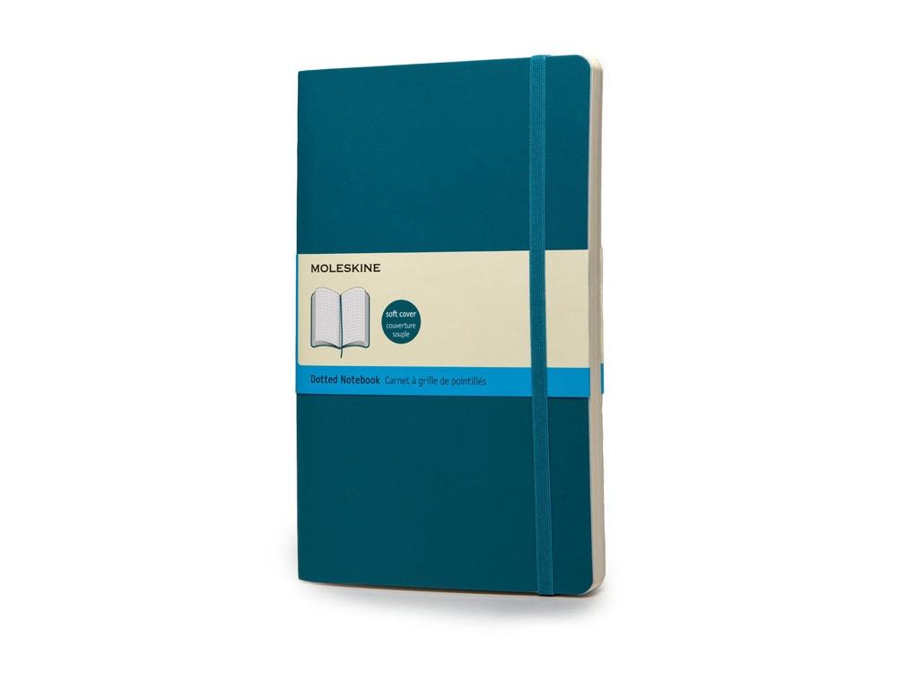 Записная книжка Moleskine Classic Soft (в точку), Large (13х21см), бирюзовый