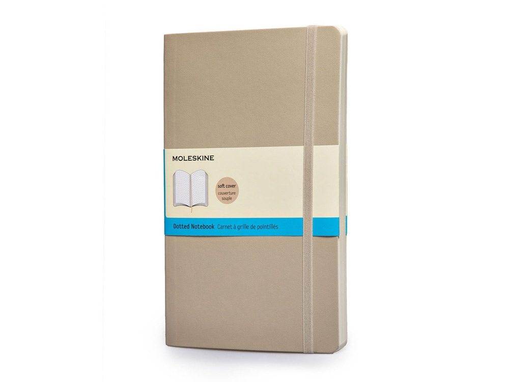 Записная книжка Moleskine Classic Soft (в точку), Large (13х21см), бежевый