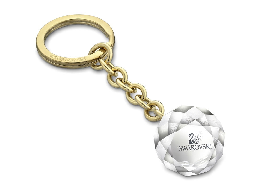 Брелок для ключей Ball, малый. Swarovski, золотистый