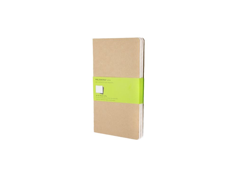Записная книжка Moleskine Cahier (нелинованный, 3 шт.), Large (13х21см), бежевый