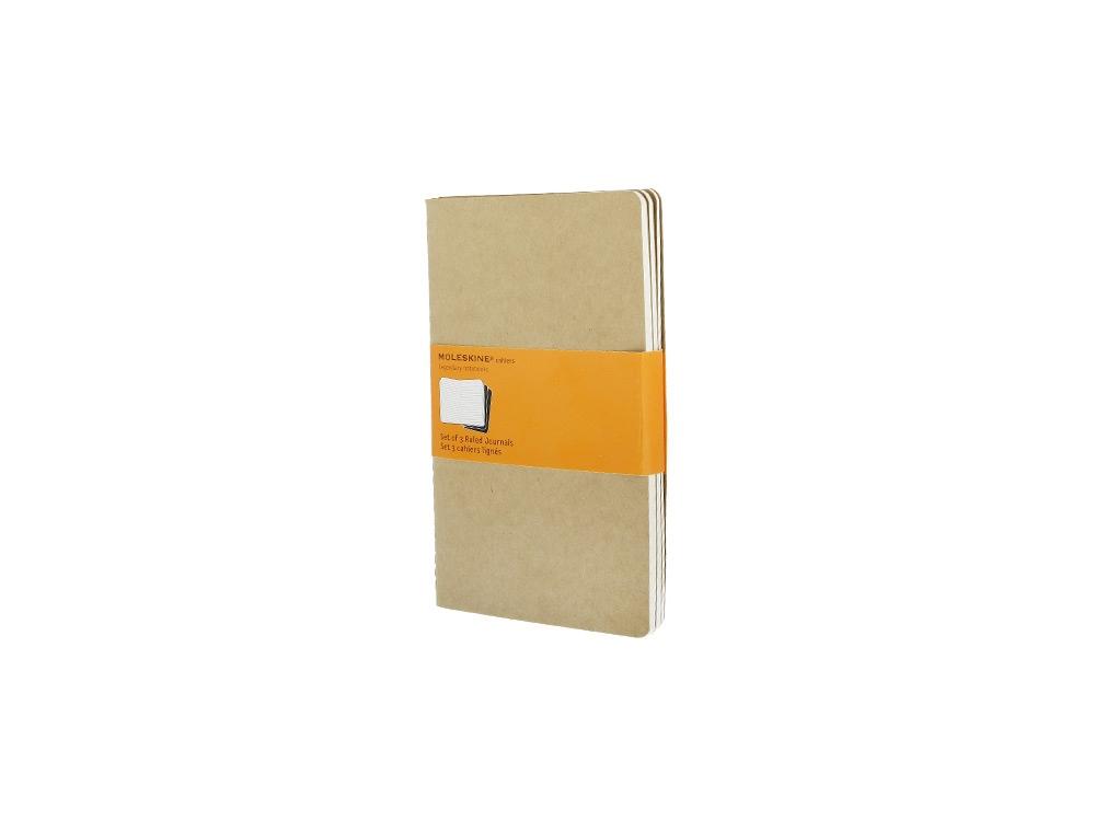 Записная книжка Moleskine Cahier (в линейку, 3 шт.), Large (13х21см), бежевый