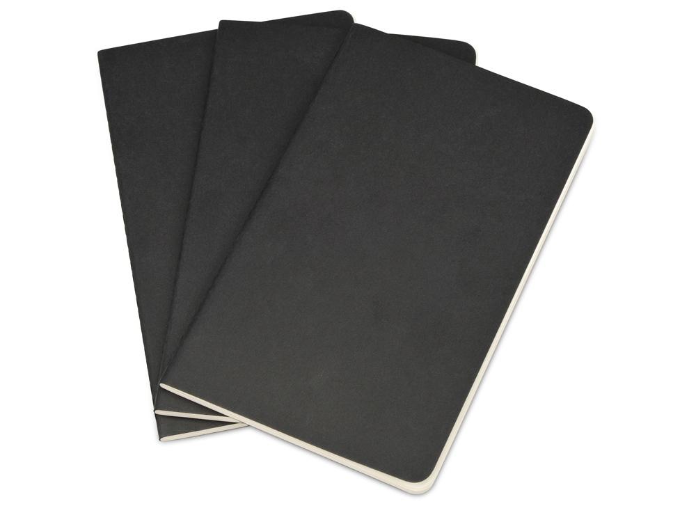 Записная книжка Moleskine Cahier (нелинованный, 3 шт.), Large (13х21см), черный
