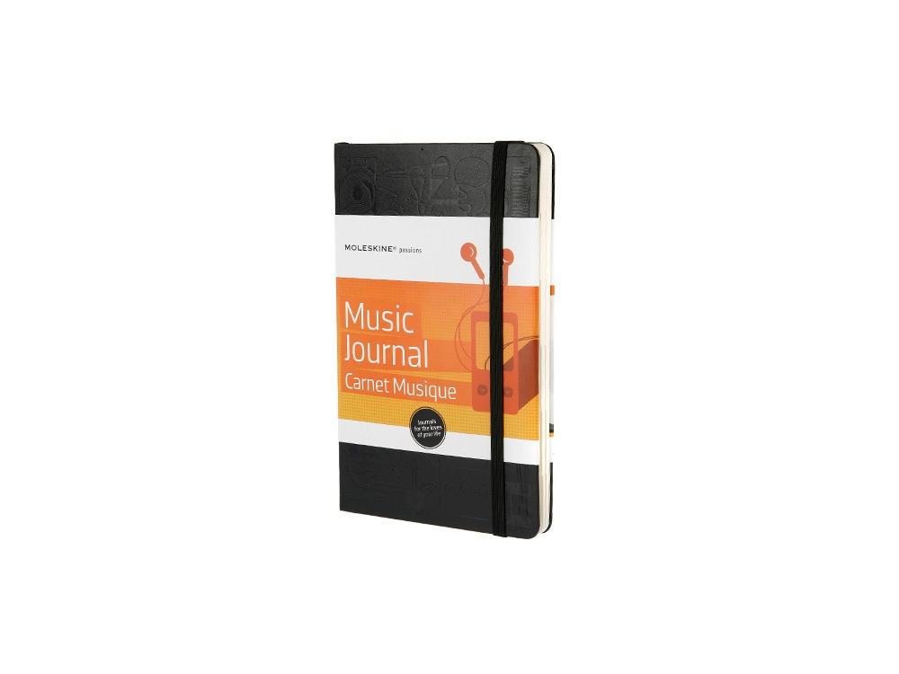 Записная книжка Moleskine Passion Music (Музыка), Large (13x21см), черный