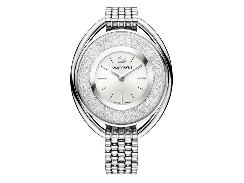 Часы на браслете Crystalline Oval, White. Swarovski
